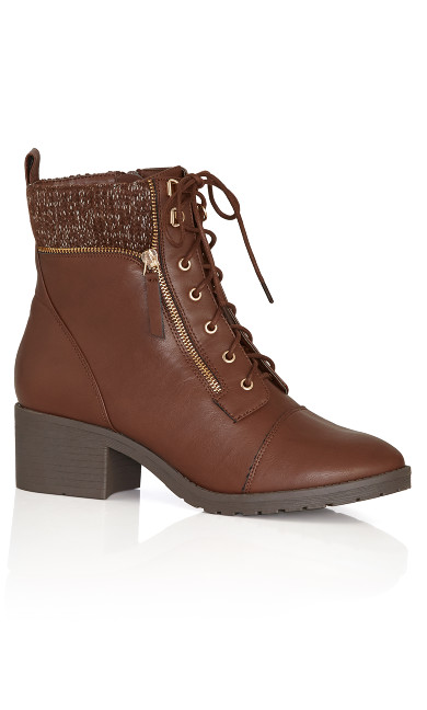 Plus Size Rita Ankle Boot - brown