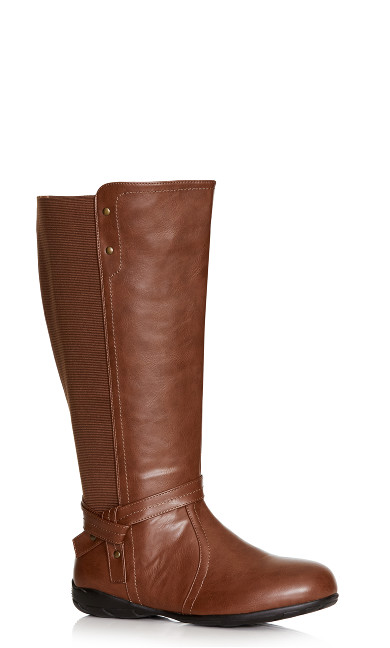 Plus Size Vera Tall Boot - brown