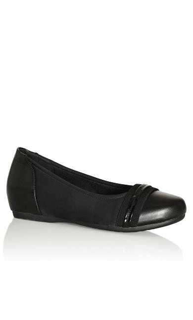 Plus Size Marlie Ballet Flat - black