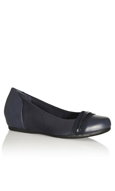 Plus Size Marlie Ballet Flat - navy