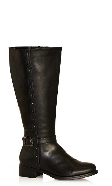 Plus Size Alex Tall Boot - black