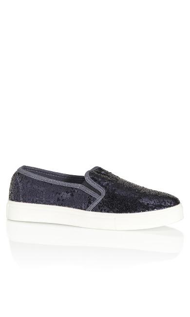 Plus Size Allie Sneaker - navy