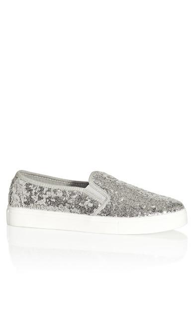 Plus Size Allie Sneaker - silver