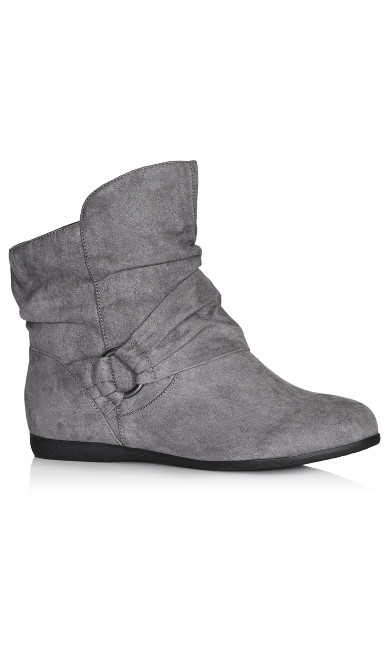 Plus Size Serena Ankle Boot - gray