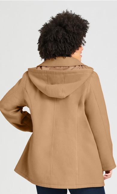 Faux Wool Peacoat - camel