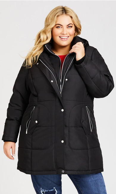 Vestie Puffer Coat - black