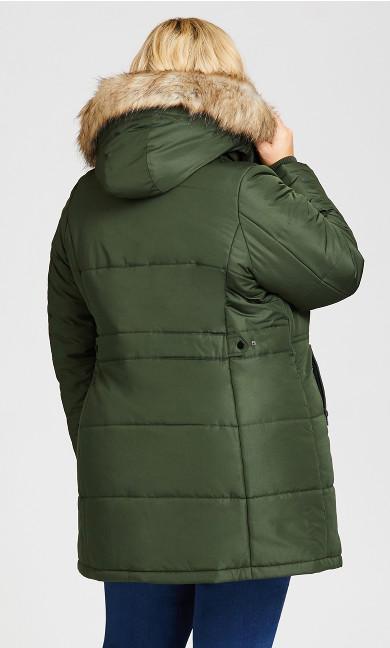 Vestie Puffer Coat - juniper