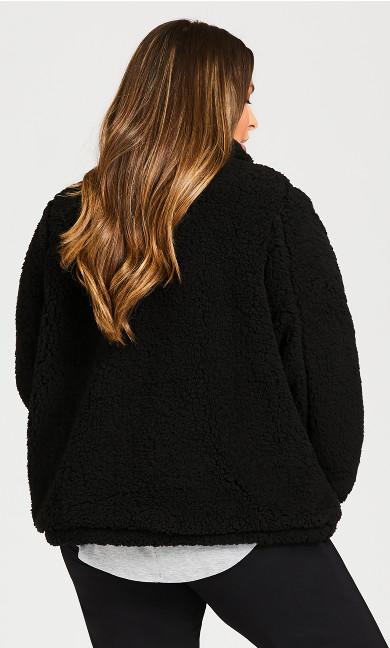 Sketchers Cozy Fleece Reversible Jacket - black
