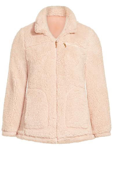 Sketchers Cozy Fleece Reversible Jacket - pink