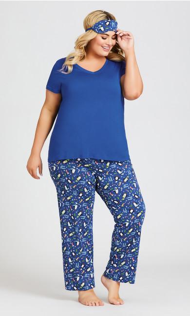 Plus Size Penguin Sleep Set - blue
