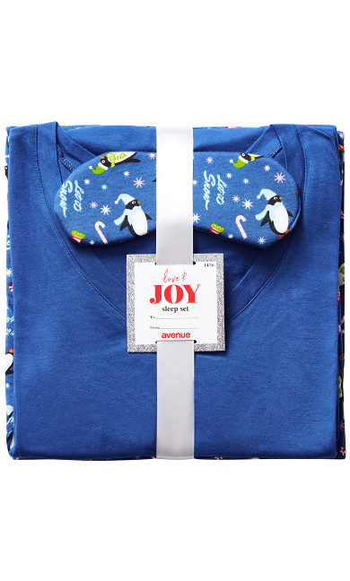 Penguin Sleep Set - blue