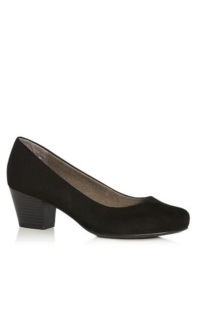Plus Size  Aja Block Heel Pump - black