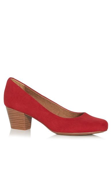 Plus Size Aja Block Heel Pump - rose