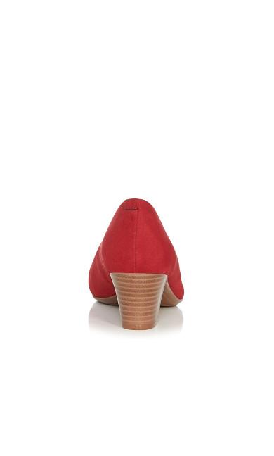 Aja Block Heel Pump - rose