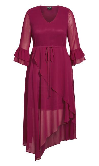 Hidden Treasure Maxi Dress - sangria
