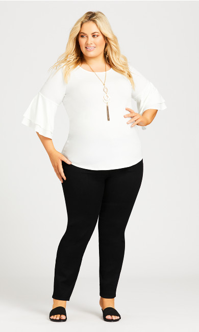 Double Bell Sleeve Top - white