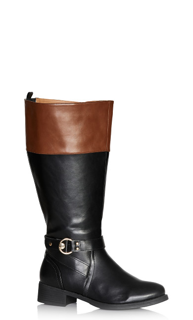 Plus Size Tilly Tall Boot - cognac