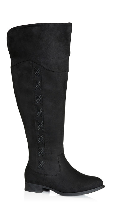 Plus Size Nadia Tall Boot - black