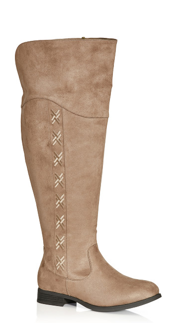 Plus Size Nadia Tall Boot - taupe