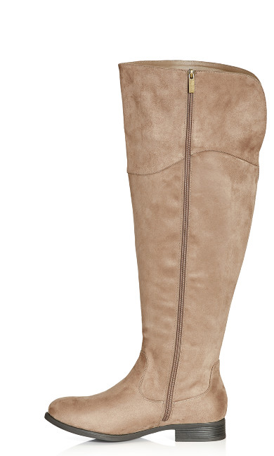 Nadia Tall Boot - taupe