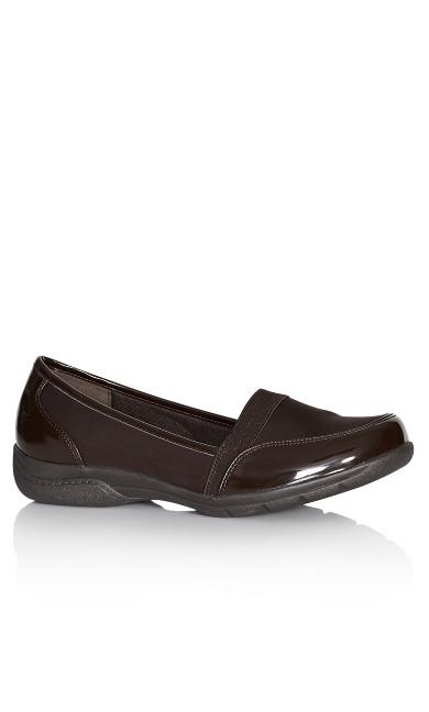 Plus Size Phoebe Shoe - brown