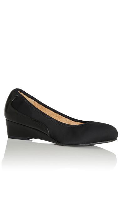 Plus Size Hattie Wedge Shoe - black