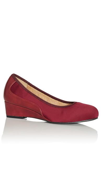 Plus Size Hattie Wedge Shoe - burgundy
