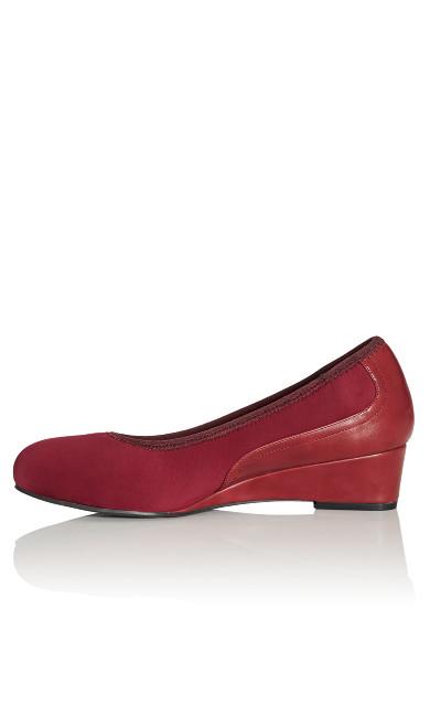 Hattie Wedge Shoe - burgundy