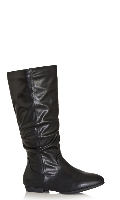 Plus Size Everly Tall Boot - black