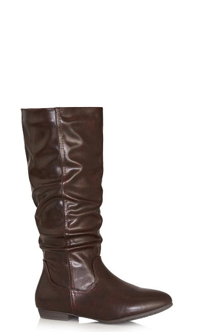 Plus Size Everly Tall Boot - brown