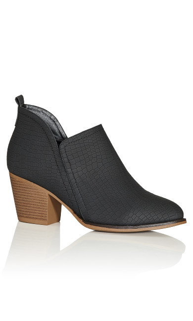 Plus Size Trina Ankle Boot - black