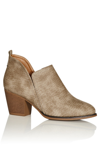 Plus Size Trina Ankle Boot - taupe