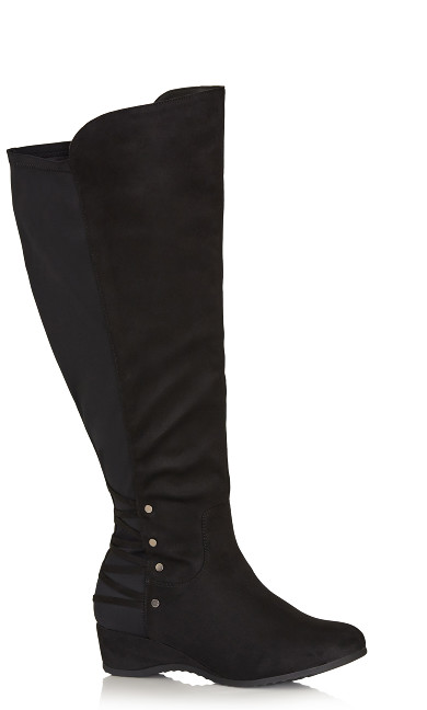 Plus Size Aria Tall Boot - black
