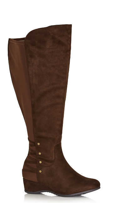 Plus Size Aria Tall Boot - brown
