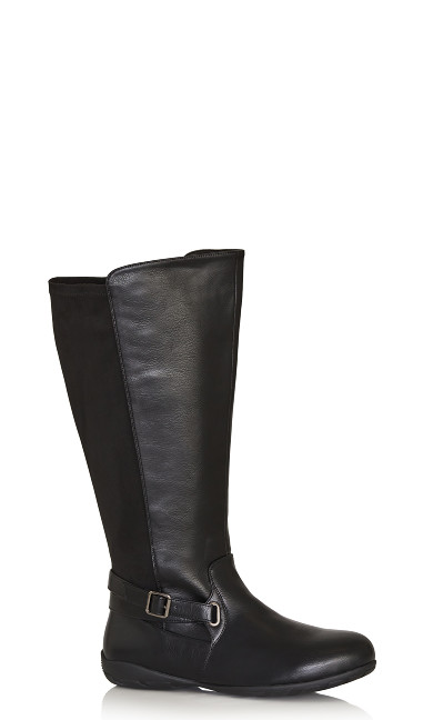 Plus Size Maria Tall Boot - black