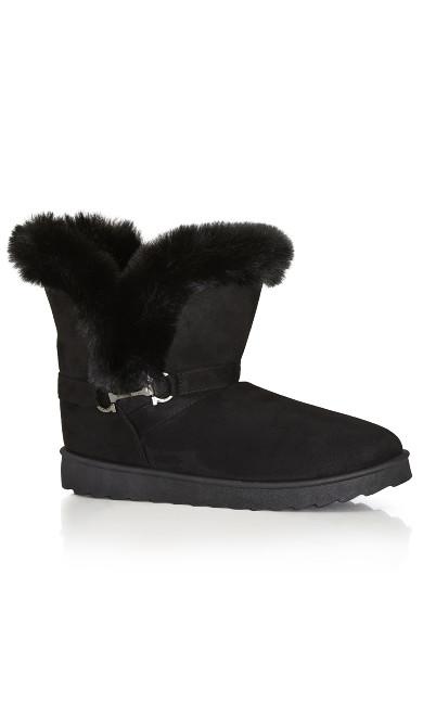 Plus Size Pippa Hug Boot - black