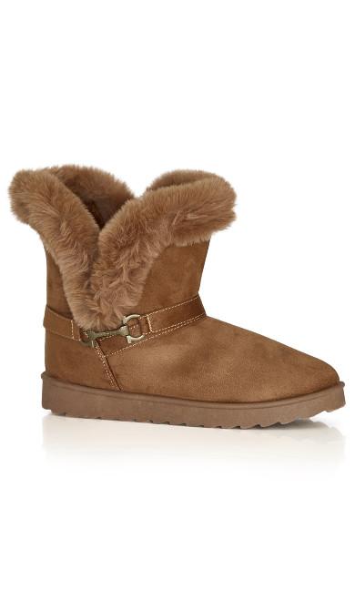 Plus Size Pippa Hug Boot - cognac