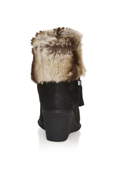 Alma Wedge Ankle Boot - black