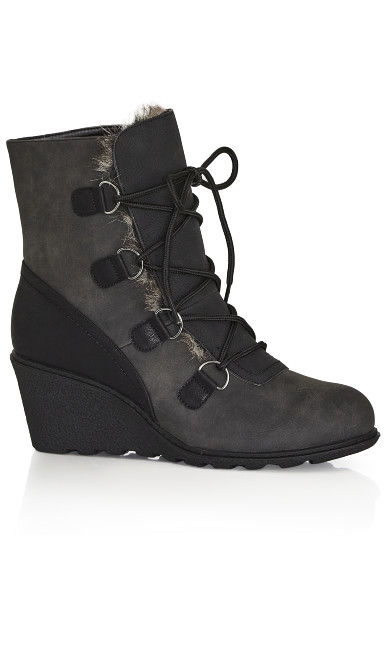 Plus Size Emerson Wedge Ankle Boot - black