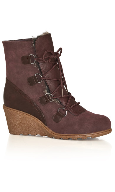 Plus Size Emerson Wedge Ankle Boot - wine