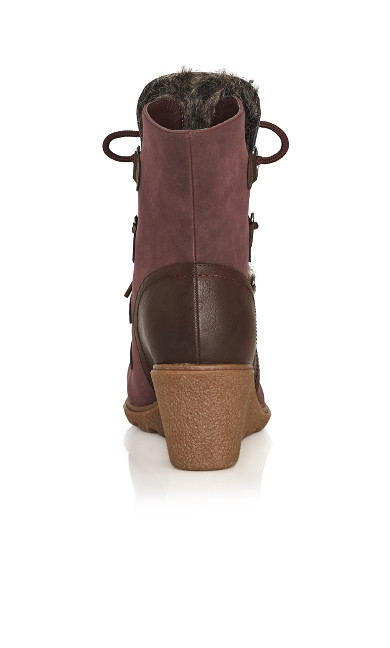 Emerson Wedge Ankle Boot - wine