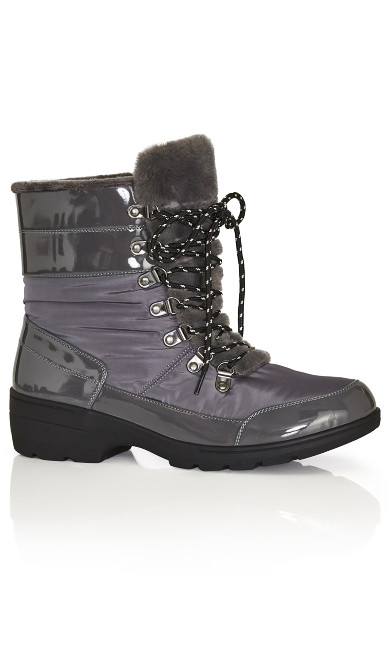 Plus Size Belinda Cold Weather Boot - gray
