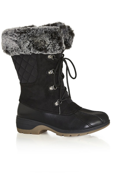 Plus Size Gwenn Cold Weather Boot - black
