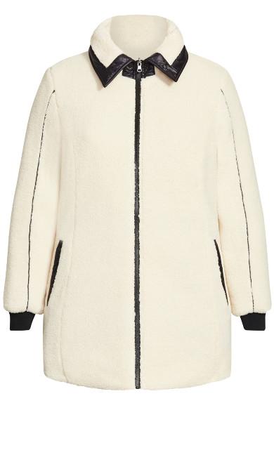 Sherpa Reversible Plain Coat - black
