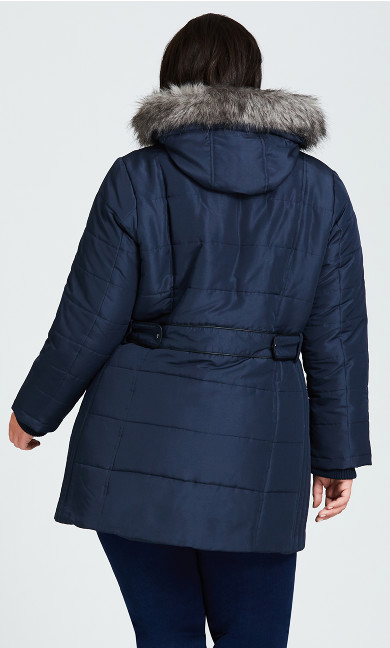 Side Tab Puffer - navy