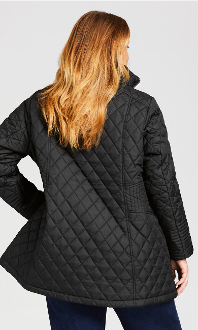 Quilted Waist Coat - black