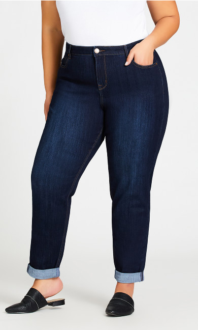 Girlfriend Stretch Jean Dark Wash - tall