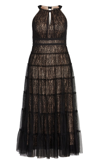 Royal Tier Maxi Dress - black