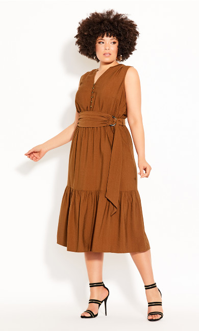 Plus Size Next Level Dress - copper