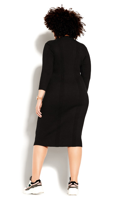 Sweater Dress - black